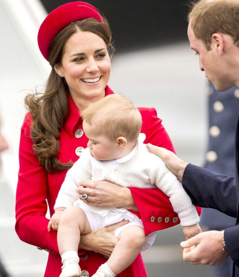 Герцогиня Кэтрин с сыном Джорджем