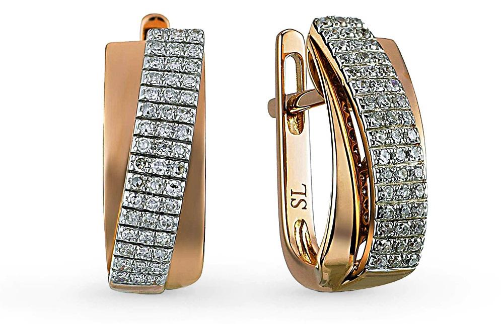 Серьги SL с бриллиантами из розового золота 23 990 руб. Антикризисные меры: на чем МОЖНО и НЕЛЬЗЯ экономить