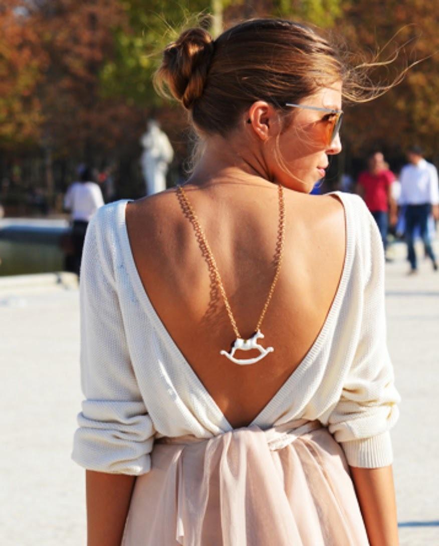 Способ №9 Как украшение на спине Как носить ожерелье, чтобы не прибавить себе 10 лет?