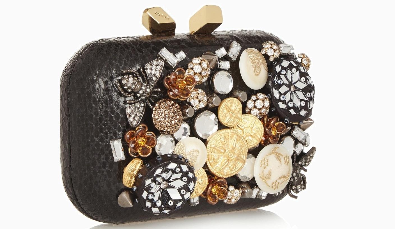 Клатч KOTUR украшенный кристаллами и камнями £354.17 От 1 500 и до…: <br/> ищем идеальный клатч для новогодней ночи