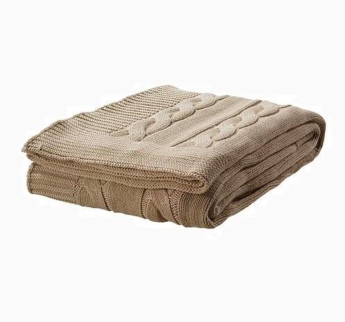 Плед Ikea 1 399 руб. e1418810785912 Заверните и не трогайте до весны:<br/> как и с чем носить пальто плед
