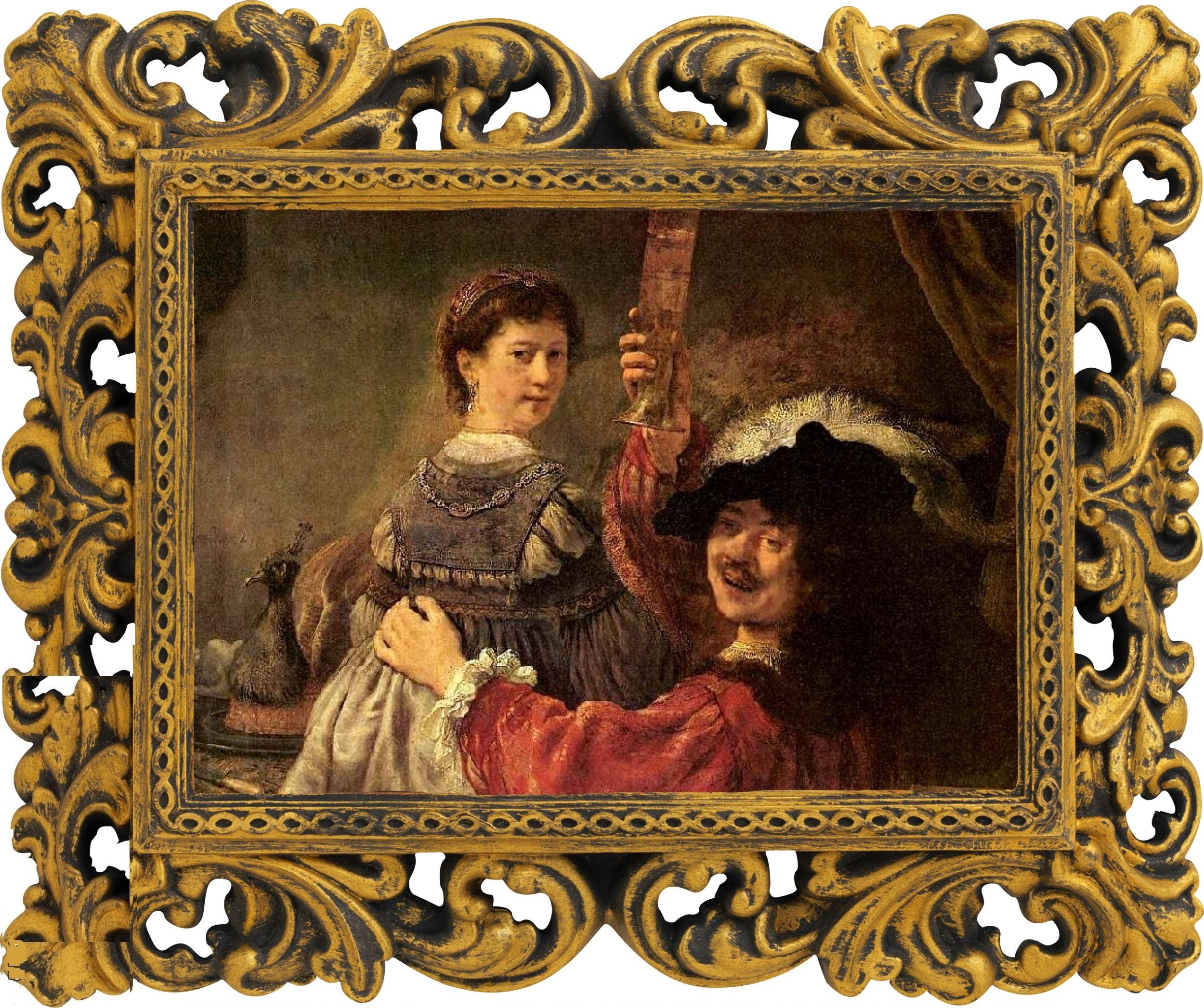 Автопортрет с Саскией на коленях, Рембрандт Харменс ван Рейн