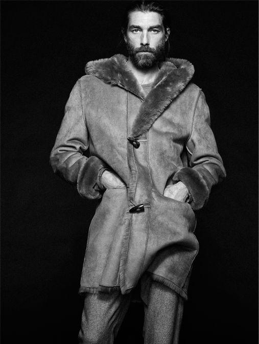 Французская модель Патрик Птижан для Adolfo Dominguez осень зима 20142015 Брутальный лесоруб – наш новый модный герой?
