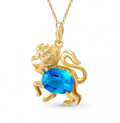 30205 Подвеска золотая «Лев»