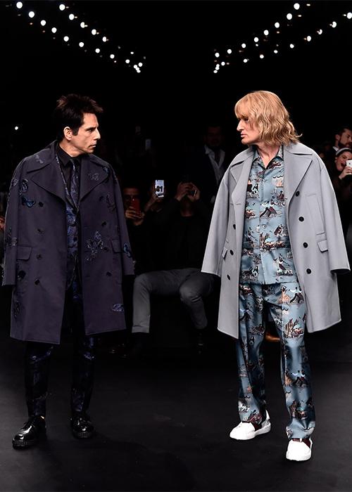 Бен Стиллер и Оуэн Уилсон на показе Valentino осень зима 2015 2016 Неделя моды в Париже: во что превращаются показы сегодня?