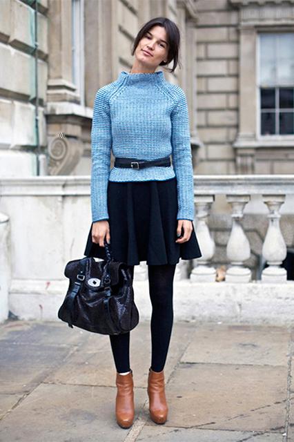Легинсы и юбка 5 идей, как носить легинсы и выглядеть круто