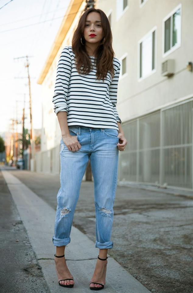 Как это делает каждый второй модный блогер 2 5 свежих идей, с чем носить тельняшку