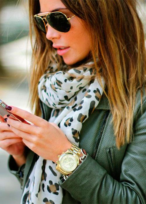 Кожаная куртка «ударная доза» леопарда 2 Носим кожаные куртки, как крутые девчонки