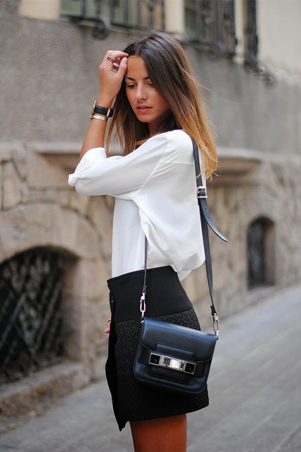 OUT: классическая белая рубашка