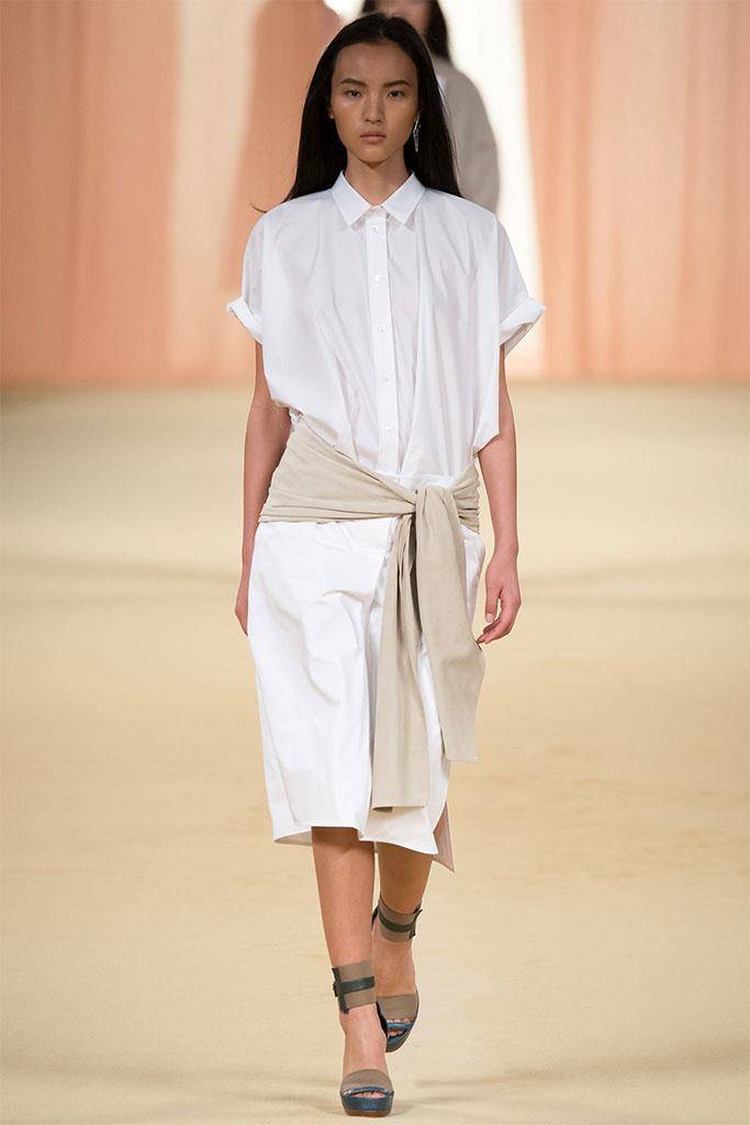 Hermès SS 2015 PFW 8 Белая рубашка: 5 новых причин отобрать ее у бойфренда