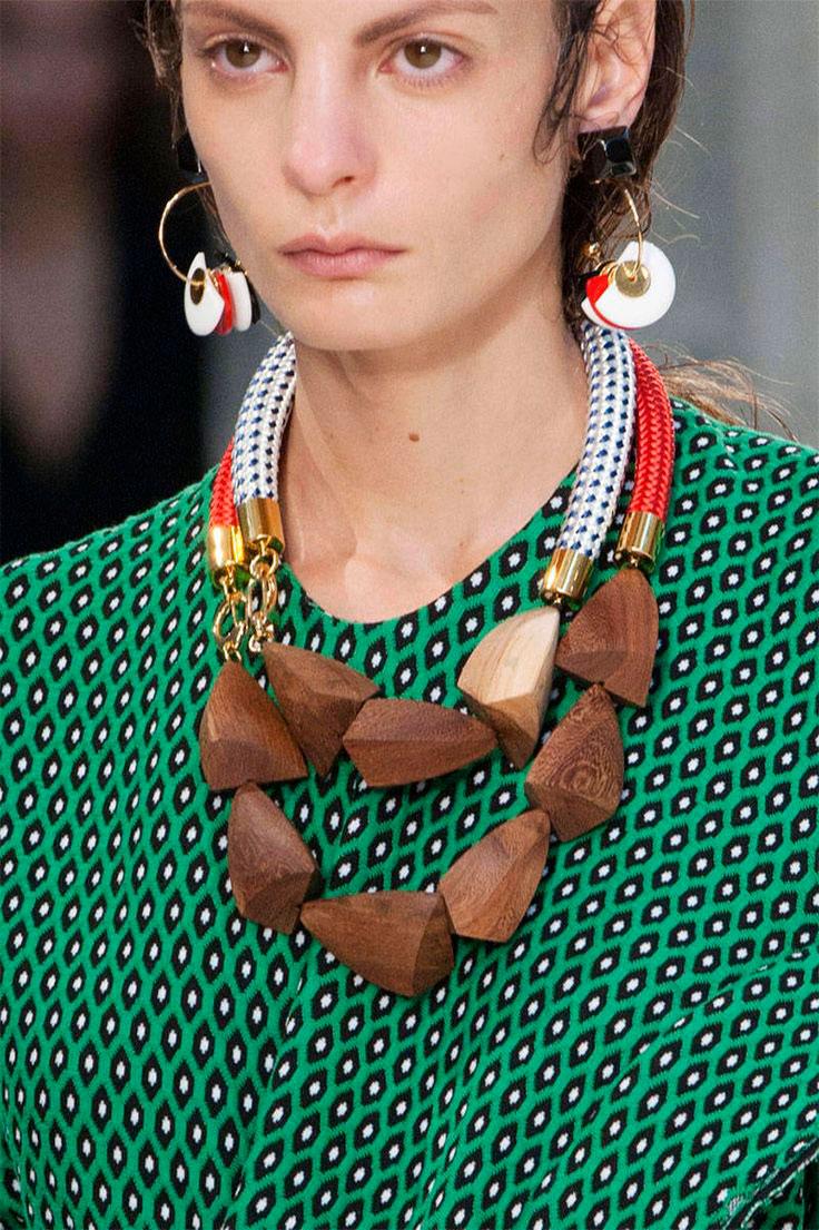 Marni Spring 2015 1 Как носить серьги конго