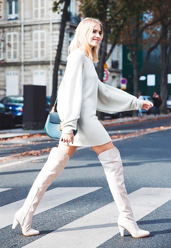 Белые сапоги 2 С чем носить белые вещи, чтобы не выглядеть как медсестра или невеста