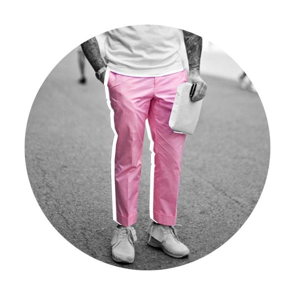 Розовые штаны 7 вещей, которые мужчинам нельзя носить летом