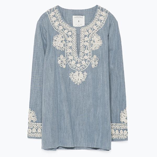 Туника Zara  5 вещей из денима, которые нужно успеть поносить этим летом