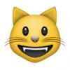 74 smiling cat face with open mouth 100x100 Кот по кличке Мерлин может перемурлыкать посудомоечную машину