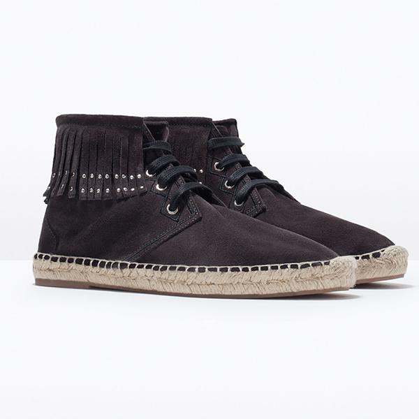 Ботинки Zara на джутовой подошве