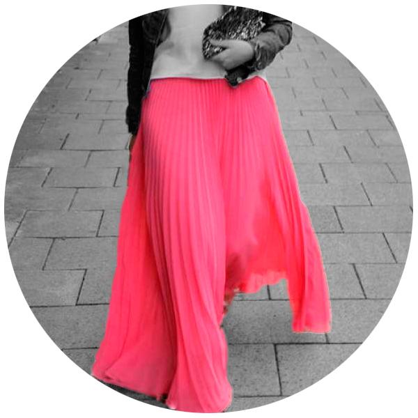 Длинные юбки из синтетики