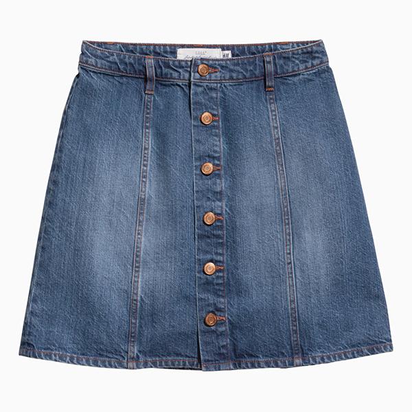 Джинсовая юбка HM  Вещи в школьном стиле, которые мы с удовольствием носим до сих пор