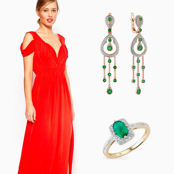 003 small2 Как подобрать украшения к красному платью