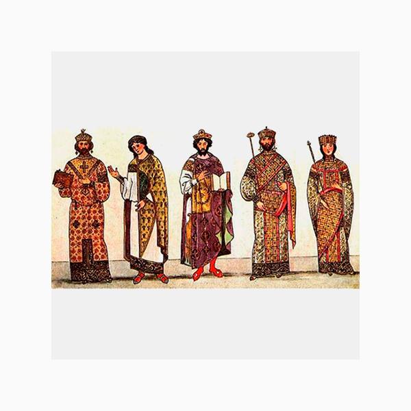 Лорум – длинный плащ из золотой ткани, декорированной драгоценными камнями