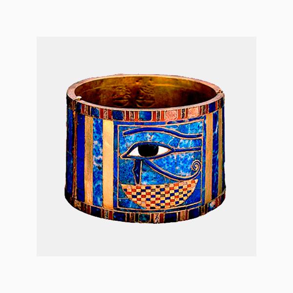 Браслет египетского фараона Шешонка I из лазурита сердолика и золота