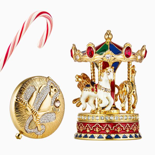 Пудра и тердые духи из новогодней коллекции Celebration Holiday Compact Collection 2015, Estee Lauder