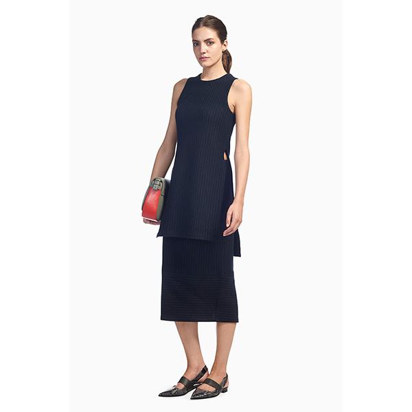 whistles tora pinstripe tabard navy 04 5 причин начать носить платье с брюками прямо сейчас