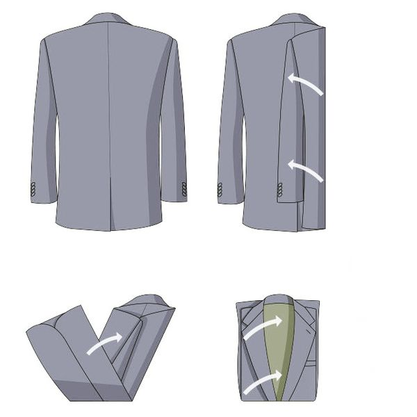 2b6423debf8d69b Согните нижний край рубашки приблизительно до середины. После этого,  сгибайте верхнюю часть к области спинки. Основная часть рубашки  складывается втрое.