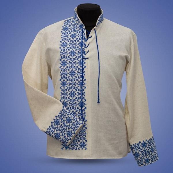 Льняная рубашка в качестве подарка мужу на 4-ю годовщину