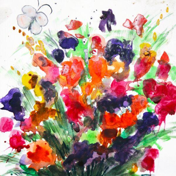 sunmag-foto-8.-buket-kraskami-mame Стенгазета на День матери своими руками с картинками и фотографиями: Шаблоны для распечатки плаката ко Дню матери в школе и детском саду