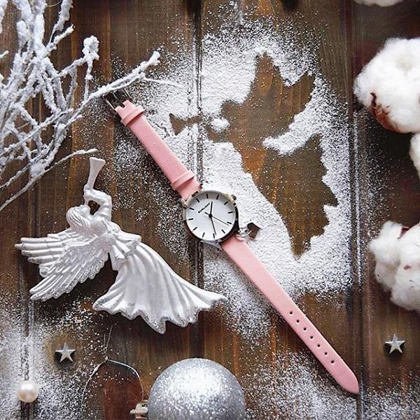 Женские часы с подвеской на кожаном ремне, SL (цена по ссылке)