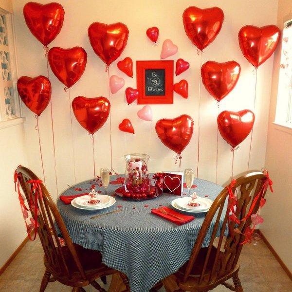 Оформление комнаты в День святого Валентина
