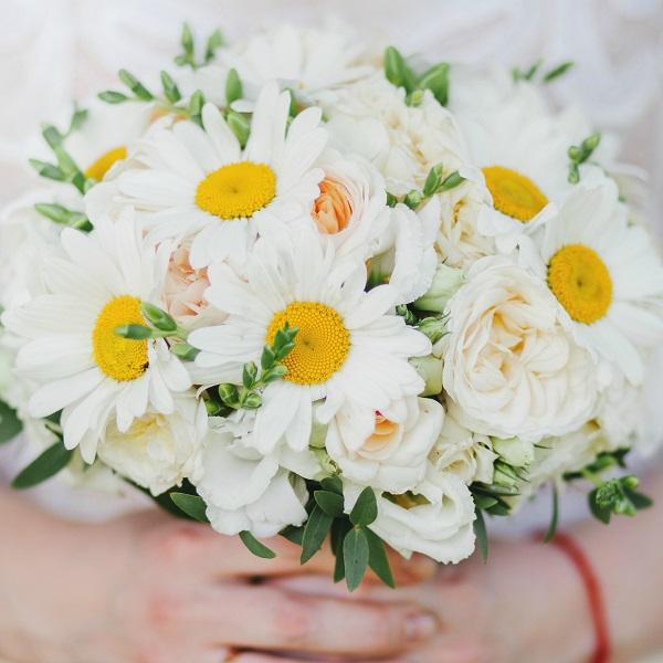Эксклюзивный букет из ромашек свадебный, киев букет