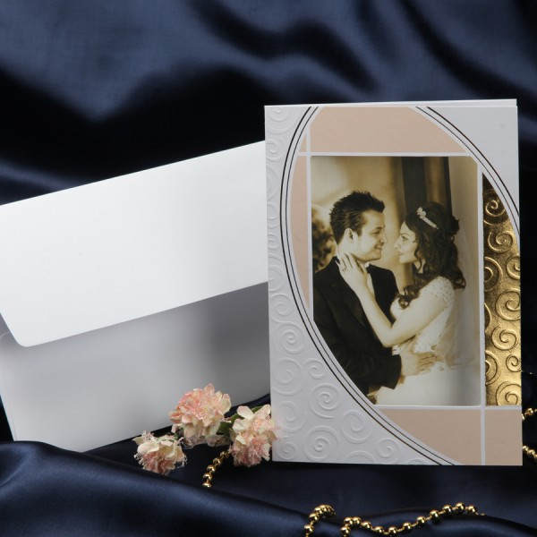 Приглашения с фото на свадьбу, днем