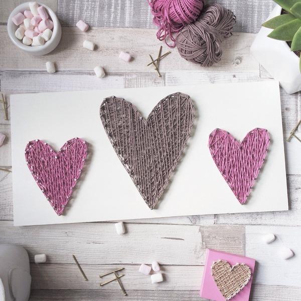 декор сердцами упаковки для свадебного подарка