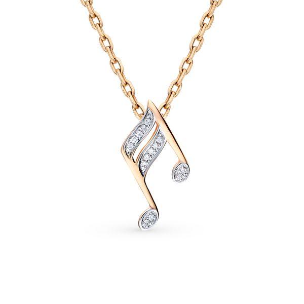 Золотая подвеска с бриллиантами санлайт