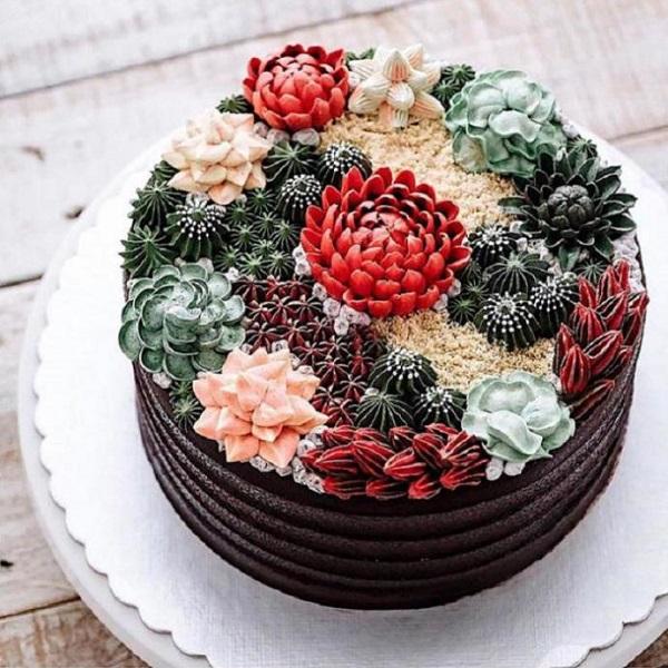 праздничный торт от крестницы