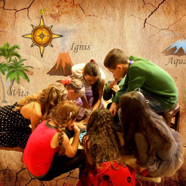 дети участвуют в квесте