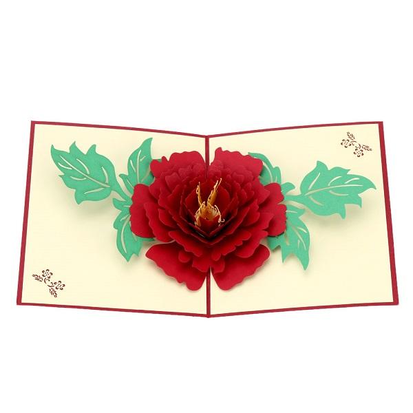 3д цветок в открытке