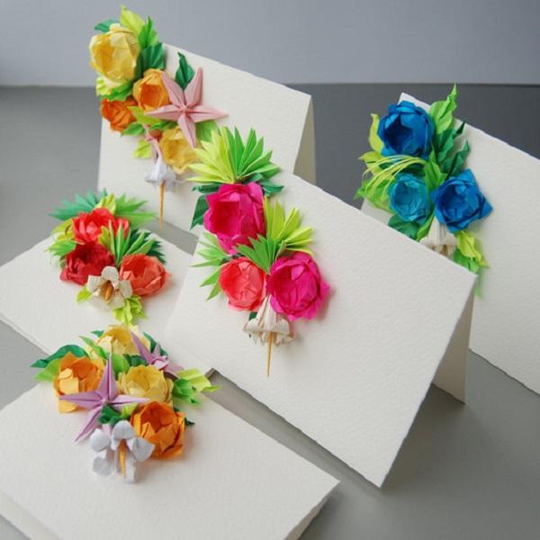 Открытки, украсить цветком открытку