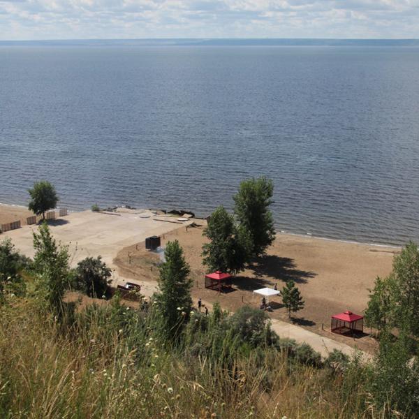 пляж в Ульяновске